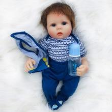 20 inch Bebe baby Reborn Boneca 100% Non-toxic Silicone Baby Realistic soft cotton body Alive Dolls boy Gifts toys