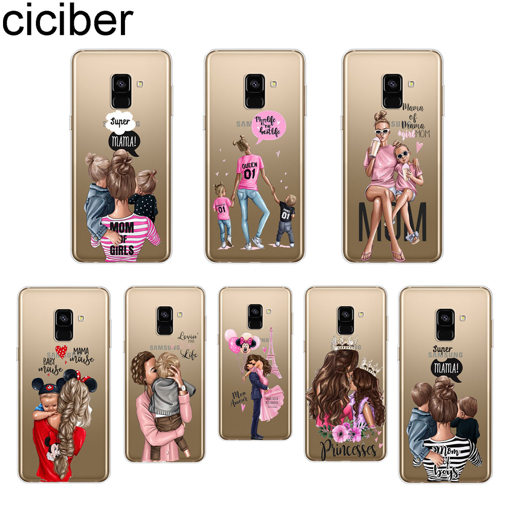 ciciber Queen Super Mom for Samsung Galaxy A7 2018 Phone Case A5 A3 A6 A8 A9 2017 2016 Star Plus Soft TPU Fundas