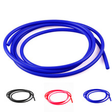 Universal 1meter ID 3mm/4mm/6mm/8mm Black silicone vacuum hose 100% Silicone Hose Pipe