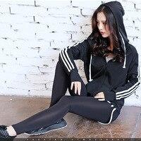 2017 new Yoga suits Women sports coat bra pants 3 pcs /set fitness wears striped comfortable good elasticity for lady S M L XXL