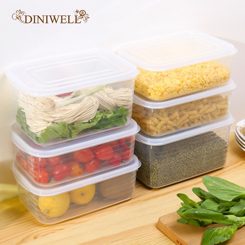 1Refrigerator Food Storage Box Transparent PP Grains Beans Container Home Organizer Sealed Kitchen Fruit Storage Boxes With Lid-in Storage Boxes & Bins from Home & Garden