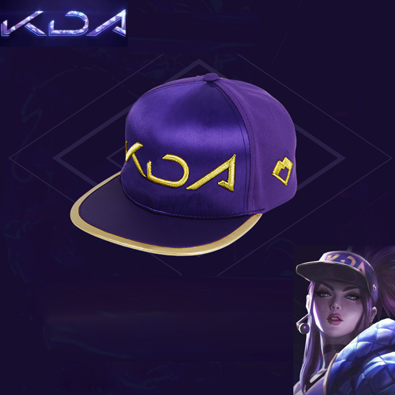 2019 KDA Hat Cosplay Akali Snapback   Baseball     Cap   Game Cosplay Accessories Luminous Face Mask for Men Women Hip-Hop Dropshipping