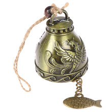 Vintage Lucky Wind Chime Feng Shui Bell High quality Blessing Wind Chime Chinese Knot for Good Luck Fortune Home Car Crafts(China)