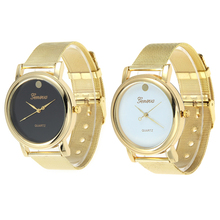 2017 New Casual Fashion Business Stainless Steel Wristwatch Geneva Watch Simple style but not simple quality