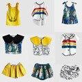 VENTA PRE INS 2017 Primavera verano vestidos de las muchachas camisetas faldas de barrido de impresión boy ropa niños juegos de ropa de bebé de calidad NIÑOS
