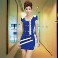 2015 Free Shippng Summer Style Massage ServiceTechnician Pediluvium Female Work Wear  Clothes Sexy Uniform