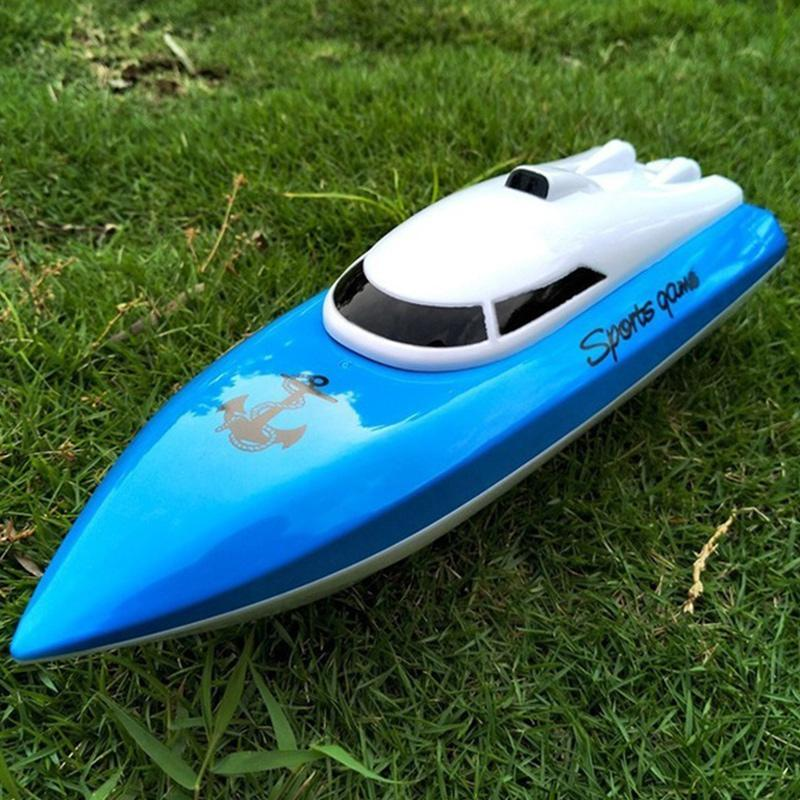 Mini 20km/h Remote Control Racing Boat High Speed  RC Speedboat Swimming Pool Lake RC Boats Toys For Kids Children