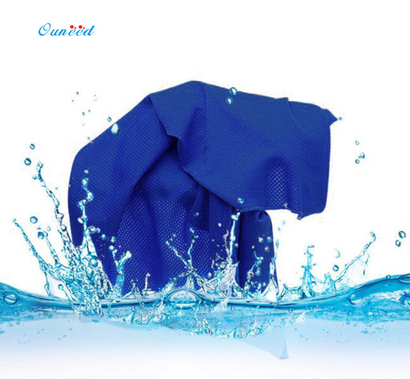 Ouneed Cooling Towel 90 * 30cm Cozy Ice Cold Enduring Running Jogging Gym Chilly Towel Microfiber 1PC