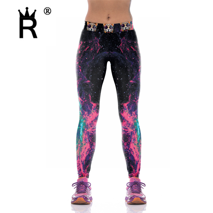 Digitaltrykte kvinner Leggings Woman Leggins Galaxy Splatter maleri - Kvinneklær