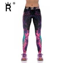 Digital Printed Women Leggings Woman font b Leggins b font Galaxy Splatter painting Sexy Pants KY1051