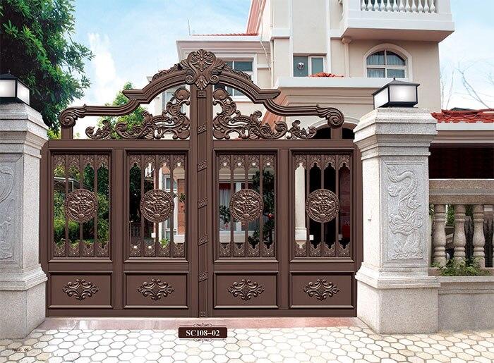 Home aluminium gate design / steel sliding gate / Aluminum fence gate designs hc-ag7