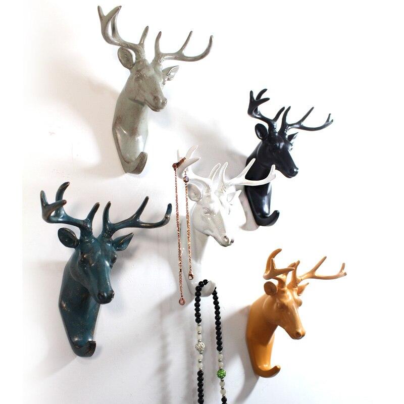 European style decorative key hook living room wall hanging Vintage Home Decor Hanger Retro Cafe Bar Shop Wall Animal Coat Hooks