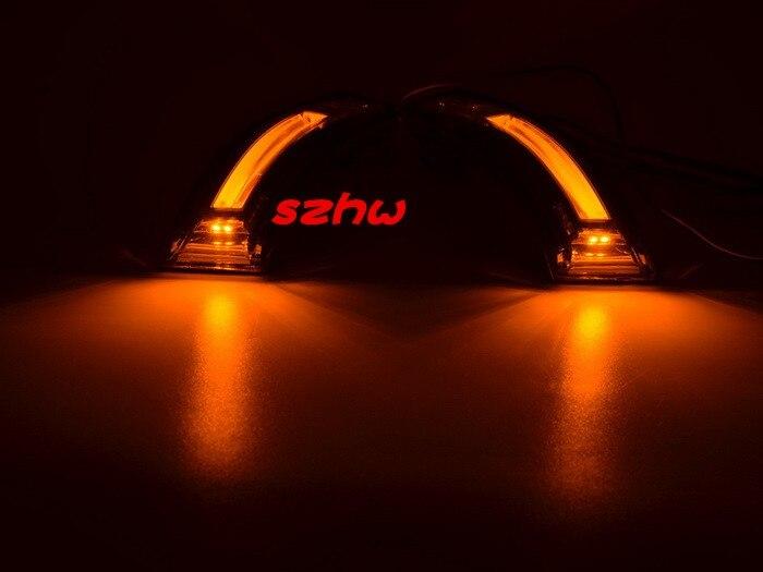 July King светодиодный зеркальный чехол для hyundai Elantra Avante Veloster, светодиодная лампа DRL+ поворотники+ лампа нижнего освещения