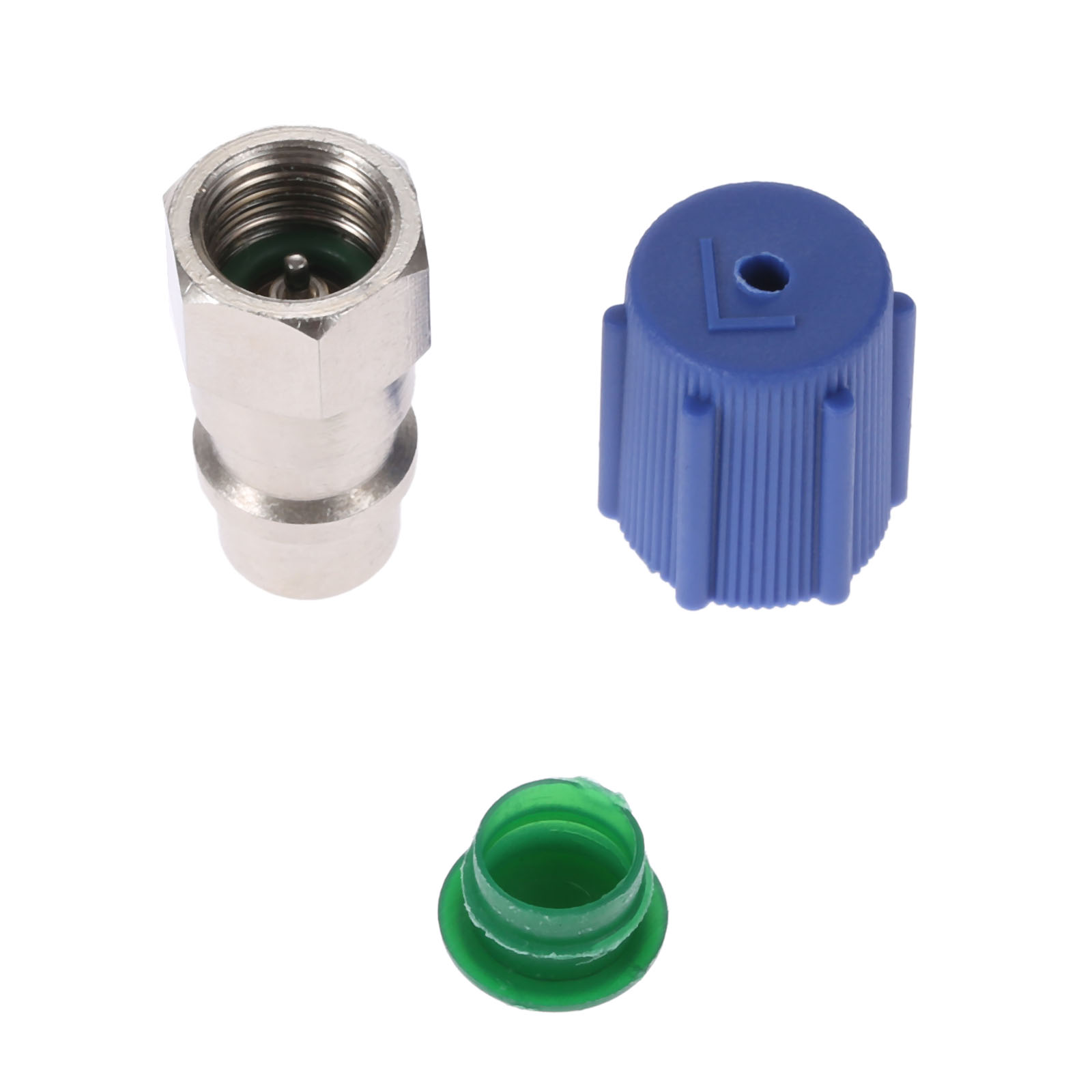 Image 5 - Yetaha Car A/C 3/8 7/16 Straight Adapters R12 R22 To R134a With Removable Valve Core & Service Port Caps-in Air-conditioning Installation from Automobiles & Motorcycles