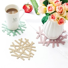 New Creative Irregular Coaster Table mat Silicone Table Heat Resistant Mat Cup Coffee Coaster Cushion Placemat PVC Pads 1pc round silicone cup mat non slip heat resistant mat coaster bowl coffee cup placemat holder table mat kitchen accessories