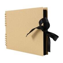 Черный фотоальбомы альбом для фотоальбома ремесло бумага DIY Скрапбукинг свадебные фото держатель юбилей подарки 80 страница