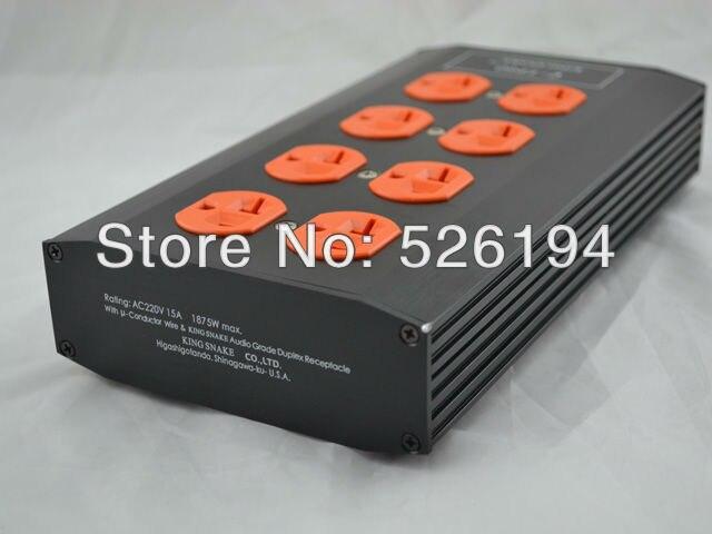 Livraison gratuite roi serpent E-TP80 Audio purificateur de puissance filtre US version AC prise de courant