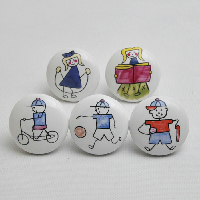5PCS Different Cartoon Imagines Lovely Childlike Ceramic 38X27MM Cupboard Closet Cabinet Drawer Furniture Knob For Nursery imagines – philostratus the younger – imagines l256 trans fairbanks greek