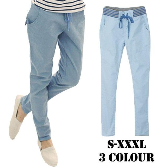 5d1d281b7ed7 Harem pants capri trousers women linen leggings summer 2018 lady casual plus  big size xxl xxxl stretch long slim pantalon femme