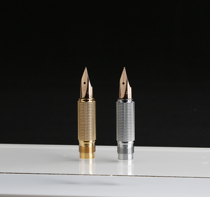 Image 4 - Hero 200E 14K Gold Collection Fountain Pen Matte Black / Gray Golden / Silver Clip Fine Nib Gift Pen and Box for Business Office