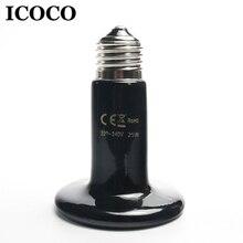 ICOCO 25W 50W 75W 100W 150W 200W IR emiter ciepła żarówka ceramiczna lampa grzewcza dla gadów domowych i płazów Drop Shipping sprzedaż