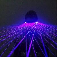 GP04 Purple laser light glasses dj party stage show wears laser man projector club bar performance disco ballroom dance costumes