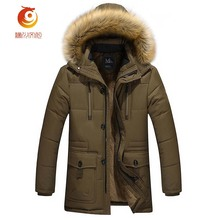 Autumn Winter Jacket Men Parkas Warm Plus Cashmere Lining Cotton Jacket Coat Men's Casual Hooded Thickening Jacket Coat Size 4XL