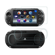 1/2pcs Tempered Glass Front+Back Screen Protector Film Protective Cover Guard for Sony PlayStation Psvita PS Vita PSV 2000 Slim