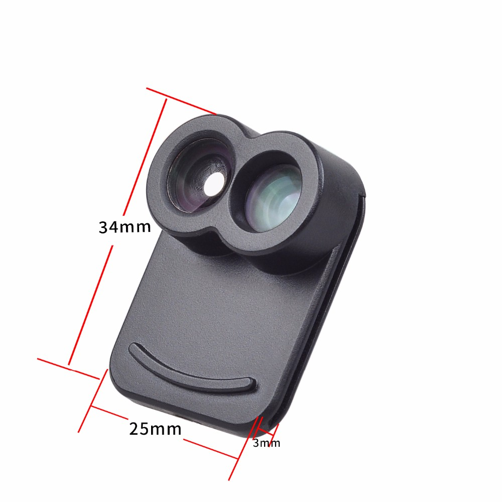 APEXEL Dual Lens fisheye wide angle macro telescope camera lens kit with back case For iPhone 7 plus 13