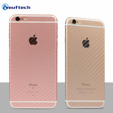 Back Carbon Fibre Film Mobile Phone Stickers for Apple iPhon