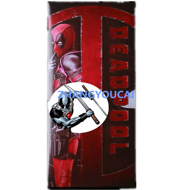 """Crazy Toys Deadpool PVC Action Figure Collectible Model Toy 12"""" 30cm red / sliver zy006"""