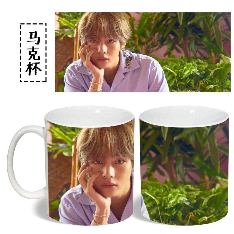 BTS Bangtan Boys V Mug Cup Ceramic