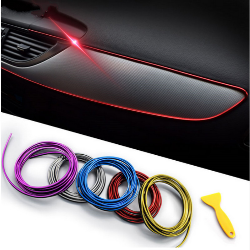 <font><b>For</b></font> <font><b>Peugeot</b></font> 206 307 308 <font><b>407</b></font> 208 207 4008 3008 2008 508 Car Styling <font><b>Interior</b></font> <font><b>Accessories</b></font> Decoration Strip image