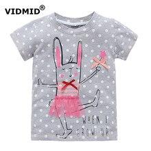 VIDMID 2-10 tahun bayi Gadis t-shirt tee shirt Gadis besar untuk anak gadis blouse penjualan t shirt 100{3ec553f0bbffb0a59ae8e5fe55cddabbb240a98ed643654009c41f2562aa40ff} cotton anak musim panas pakaian