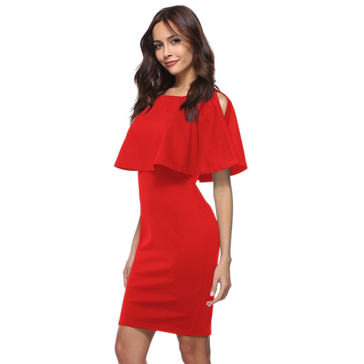 Ruffle Dress 2019 Summer New Women 39 s Dress Elegant Wrap Dress Lotus Leaf Befree Exposed Backpack Hip Casual vestidos de verano in Dresses from Women 39 s Clothing