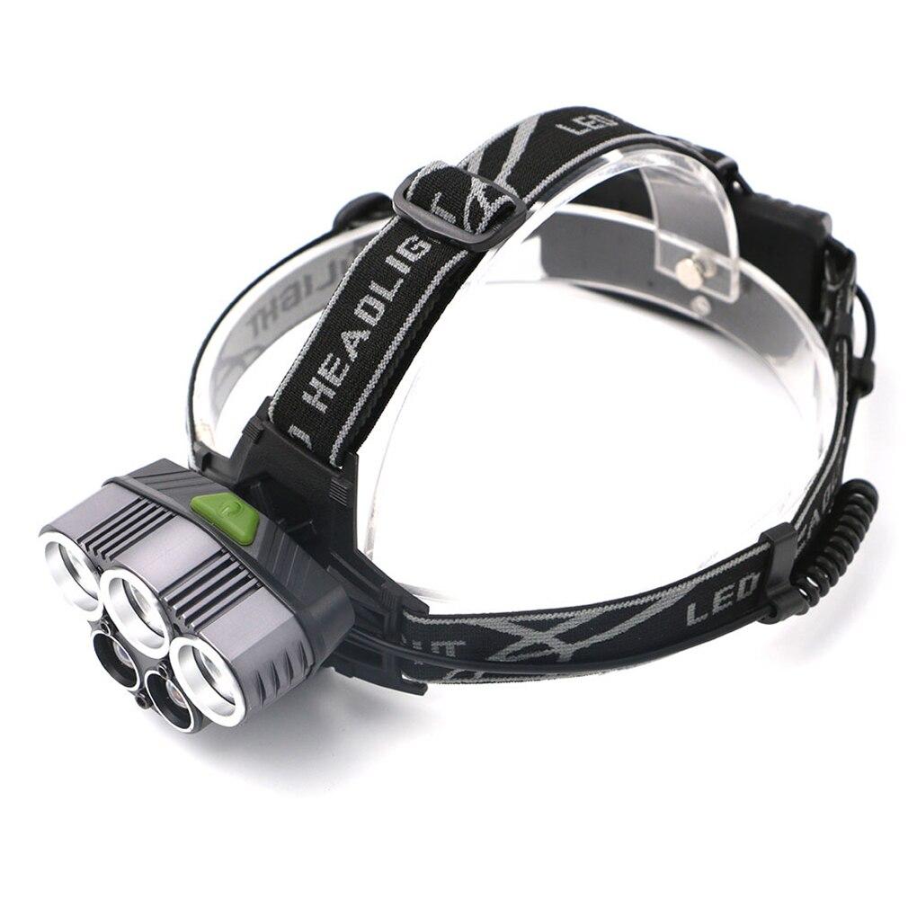 Aluminium Alloy USB Charging Strong Light Long Shot 5 Lights T6 LED Headlight Headlamps