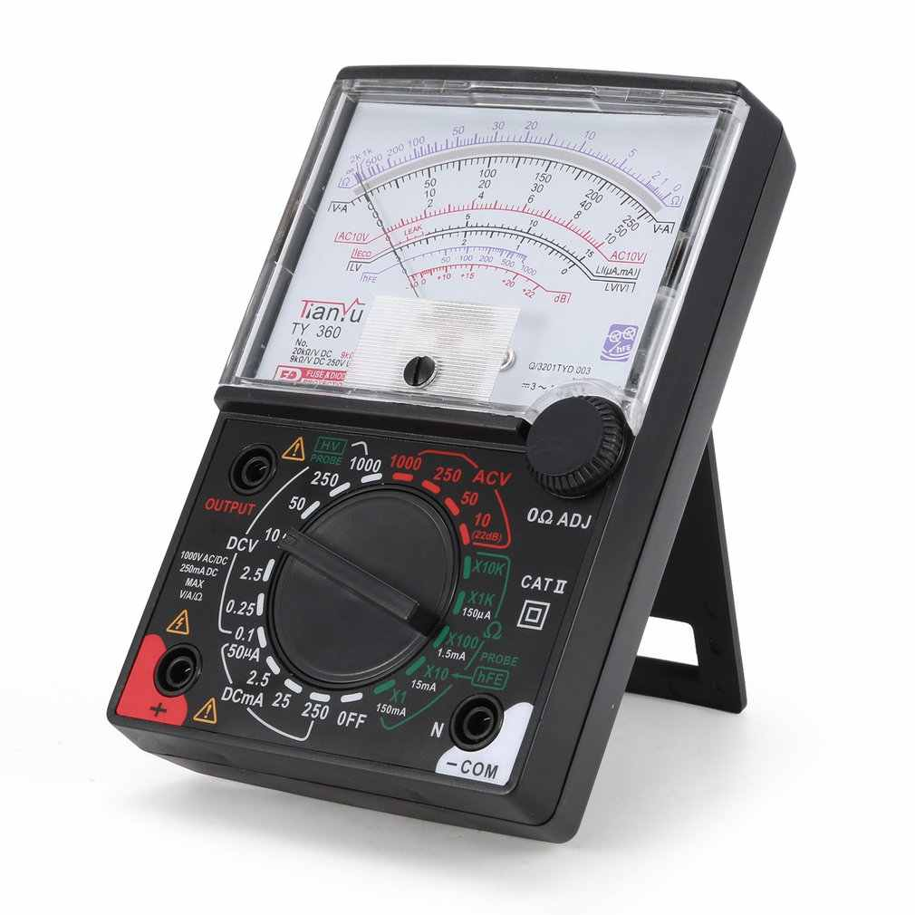 TY-360 Pointer Multimeter AC/DC Voltmeter Ammeter True RMS Diode Ohm Resistence Tester Data Hold Analogue w Testing Lead Sale