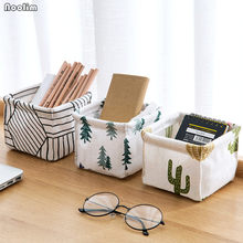 Foldable Nordic Colors Storage Bin Closet Toy Box Container Organizer Fabric Basket Home Office Desktop Storage Basket Bags(China)