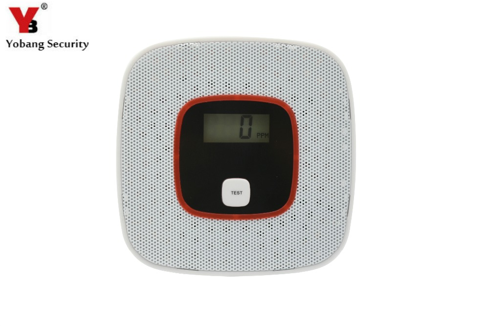 YobangSecurity Human Voice Warning Independent LCD CO Carbon Monoxide Poisoning Sensor Monitor Fire Warning Alarm Detector voice warning lcd co carbon monoxide tester poisoning sensor alarm detector