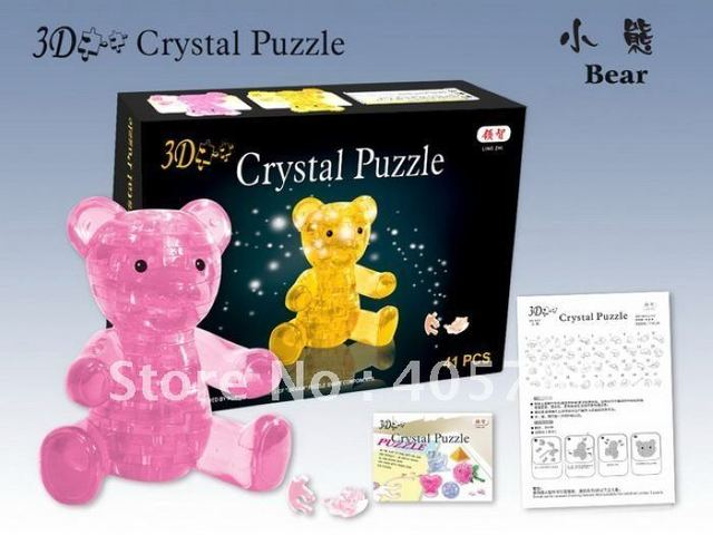 DIY TOY Educational toy,3D Crystal Puzzle (bear)