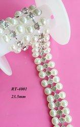 Livraison gratuite 1 yard bricolage strass garniture pour ceinture de mariée ceinture de mariage ceinture de mariage (RT-4001)