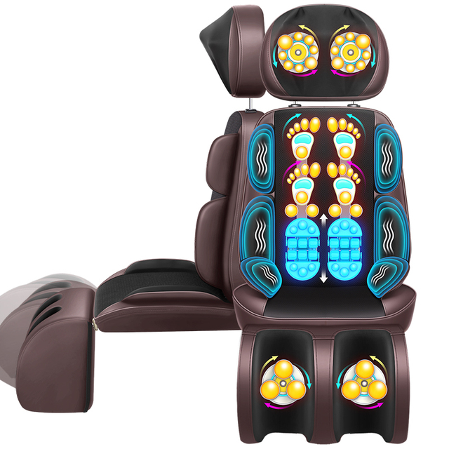 massage chair with heat counter height chairs dimensions body electric office pad vibration mat neck back cervica massager cushion china shiatsu device 220v