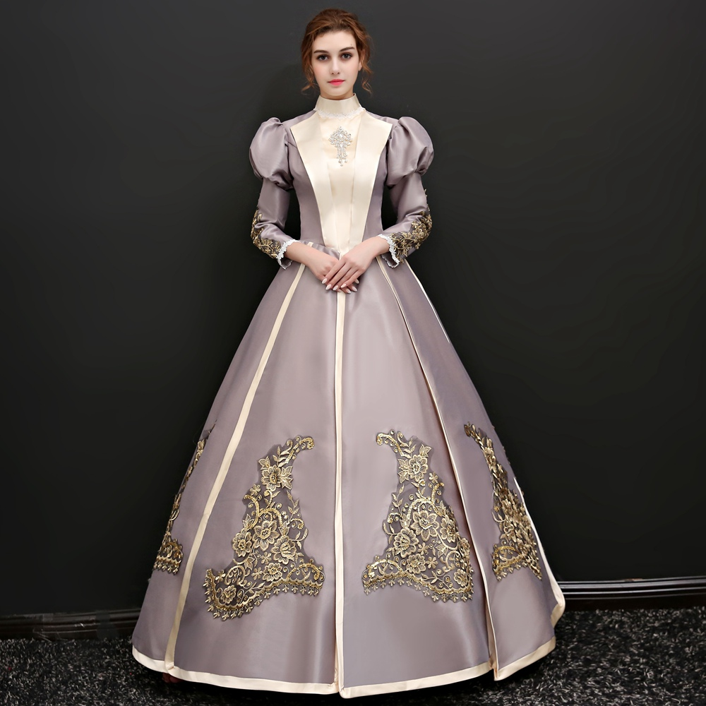 2018 Vintage Dress Marie Antoinette 18th Century Gown Renassiance ...