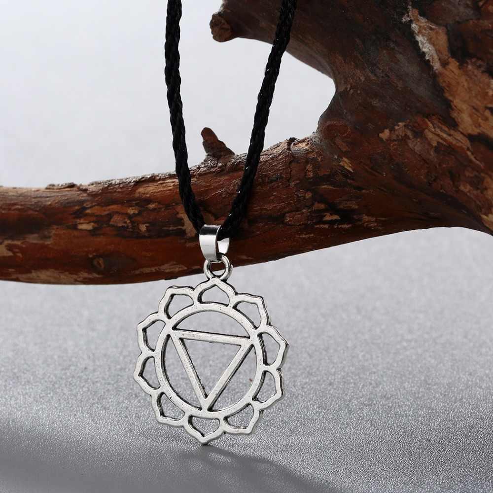 QIMING Triangel słowiańskie amulety naszyjnik dla kobiet proste Totem wisiorek naszyjniki mężczyzna w stylu Vintage srebrny mężczyźni naszyjnik biżuteria