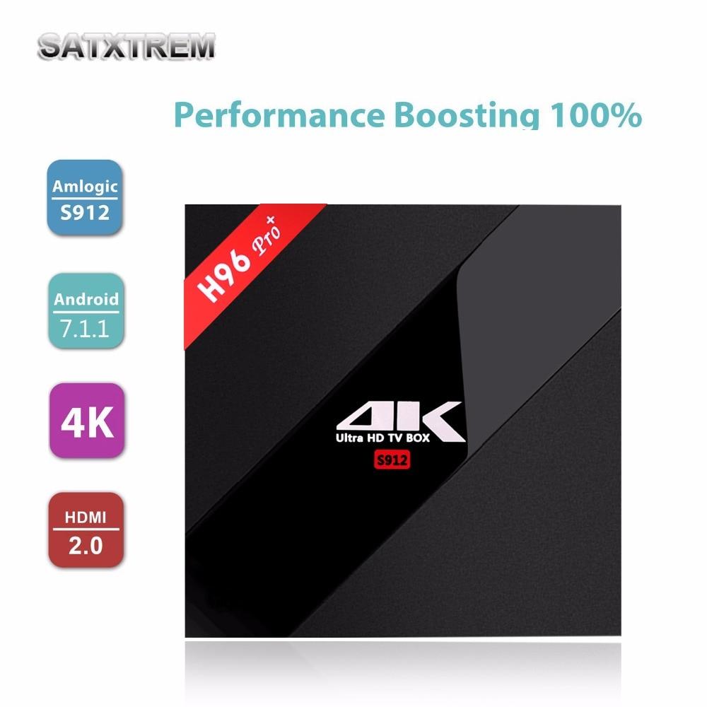 H96 Pro Plus Android 7.1 Smart TV Box 3GB/32GB Amlogic S912 2.4G/5.8G WiFi H.265 BT4.1 KD16.1 4K H96 Pro + set top Media player promoitalia пировиноградный пилинг pro plus пировиноградный пилинг pro plus 50 мл 50 мл 45%