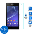 "2pcs/lot Tempered Glass Screen Protector Film for Sony Xperia Z3 SO-01G 401SO SOL26 D6633 D6643 4G Dual Lte 5.2""  9H 2.5D 0.26mm"