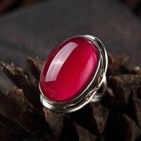 ארוך baolong אותנטי 925 לבן טהור קורונדום טבעת מוגזמת אטמוספרי intime eclipse החדש רטרו טבעת נשית