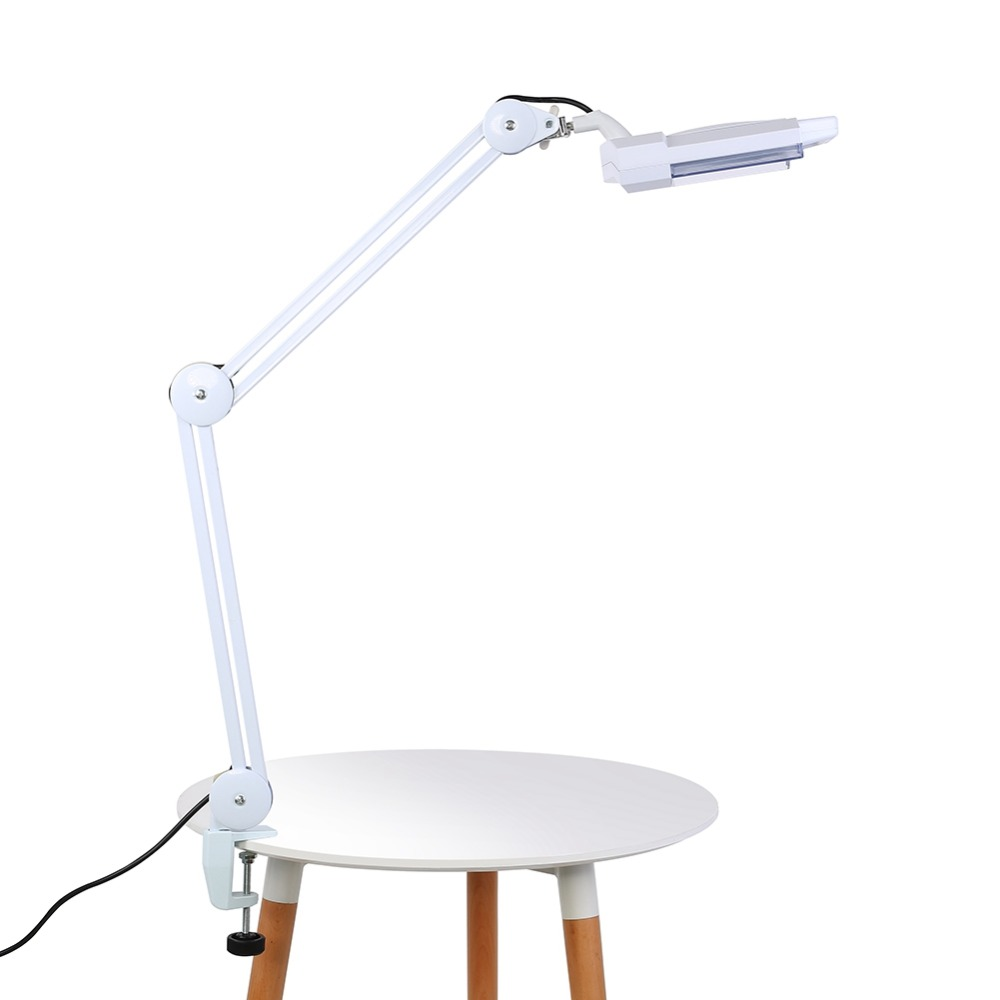 Oversea Fast Ship Upgraded 5X Illuminated Desktop Tattoo Magnifying Lamp with Clamp Swivel Medical Beauty for