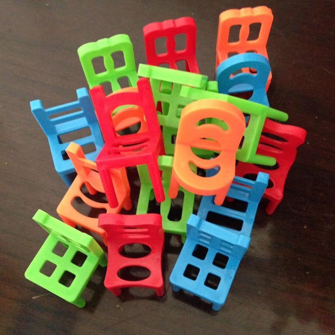 18 Teile/satz Bord Spiel Balance Stühle Kinder Pädagogisches Balance Stapeln Stühle Spielzeug Kinder Schreibtisch Puzzle Ausgleich Ausbildung Spielzeug