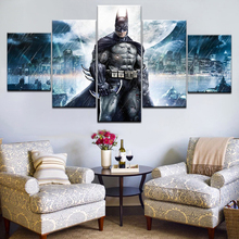 Modular Canvas Painting Wall Art Pictures Frame Home Decor 5 Panel Modern HD Printed Movie Characters Batman Moon Poster Artwork